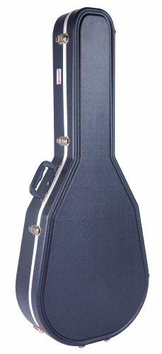 Kinsman KGC8620 Premium ABS-Hartschalenkoffer für Mid/Shallow Roundback Gitarre