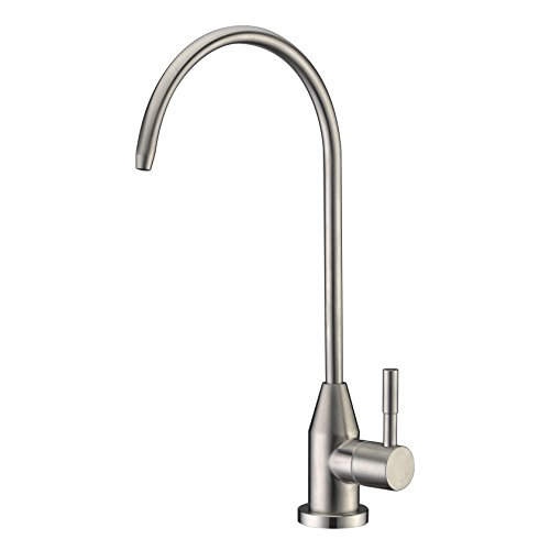 WENKEN Drinking Water Faucet, Stainless Steel Brushed Nickel Kitchen Sink Drinking Water Purifier Faucet, Commercial Water Filtration Faucet for Under Sink Water Filter System