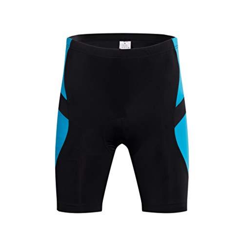 CLISPEED Short de Cyclisme Hommes Équitation Demi-Pantalon Pantalon de Vélo Collants Absorbant Respirant pour Le Vélo de Course Course à Pied Sport (Noir/Bleu Lac L)