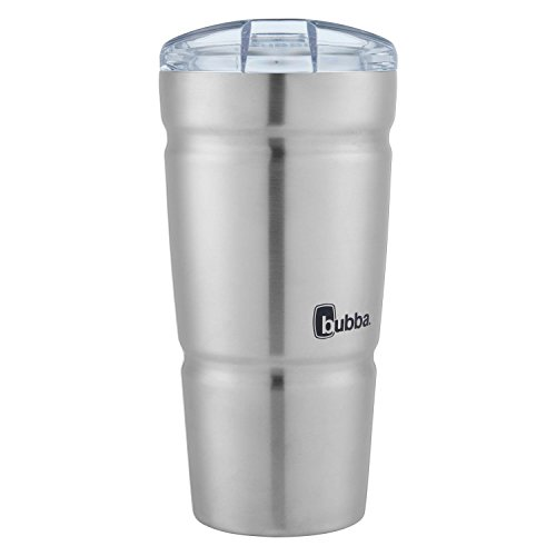 Bubba Straw Envy S Vacuum-Insulated Stainless Steel Tumbler, 18 oz, Clear Lid