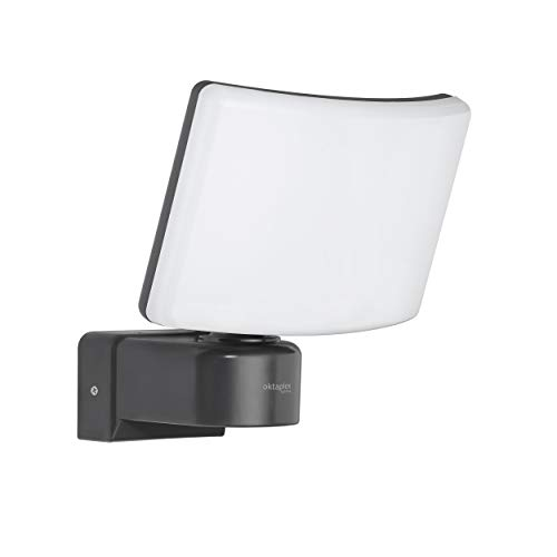Oktaplex Lighting LED Außenstrahler Außen Cali 30W | Wand Strahler IP65 3000K warmweiß | Flutlicht anthrazit Spotlight