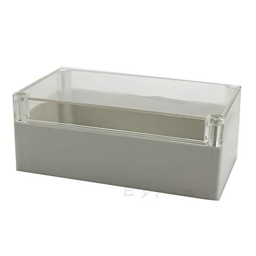 Elektronische Projekt-Box, wasserfest, Kunststoff, 158 x 90 x 60 mm, transparent