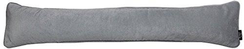 McAlister Textiles Matter Samt | Zugluftstopper mit Füllung | 18cm x 90cm in Taubengrau | Deko Windstopper für Fenster, Türen im Designer Plüsch