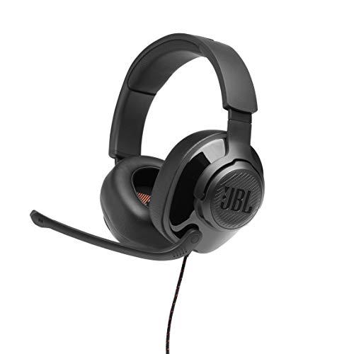 JBL Quantum 200 Cuffie Gaming Over-Ear con Filo, Headset da Gioco con Microfono, Compatibiltà Multipiattaforma PC e Console, Colore Nero