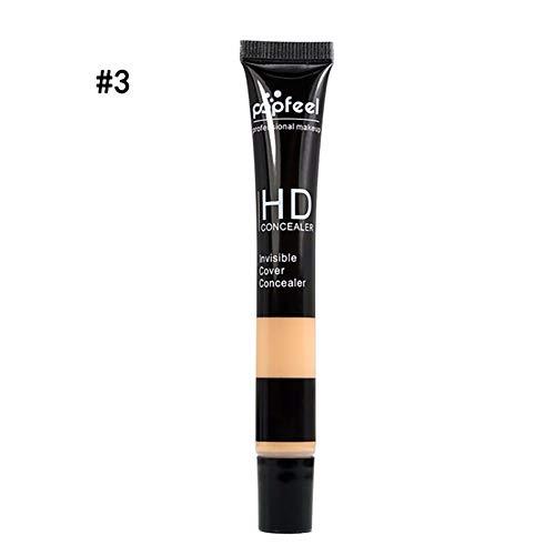 1PC HD Correcteur de Teinture Perfection Durable Correcteur d'Utilisation Ultime pour Maquillage de Base Correcteur Multi-Usage (3Beige)