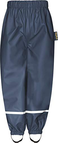 Playshoes Baby-Unisex Fleece-Halbhose Regenhose, Blau (Marine 11), 86