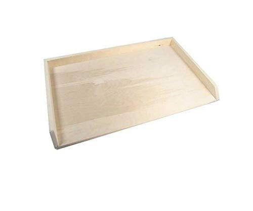 Asse spianatoia stendi pasta in legno di faggio per impasti tradizionali (Con Bordo, 85x50)