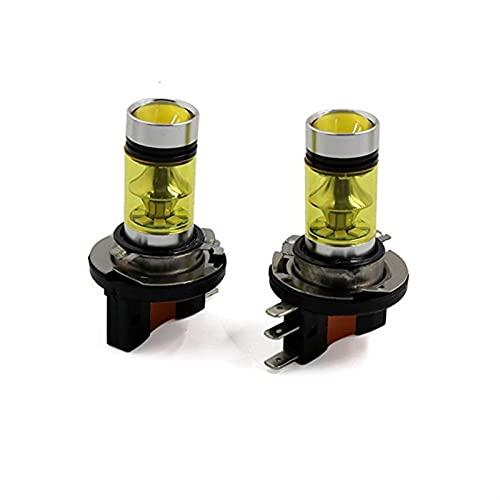 ScottDecor lampade h7 LED 2pcs Car Auto LED Nebbia Drivinglight Guida Giallo Lampada Lampadine Lampadine Lunga Durata DC 12V H15 20 SMD 2835 Alloggiamento in Alluminio (Socket Type : H15)
