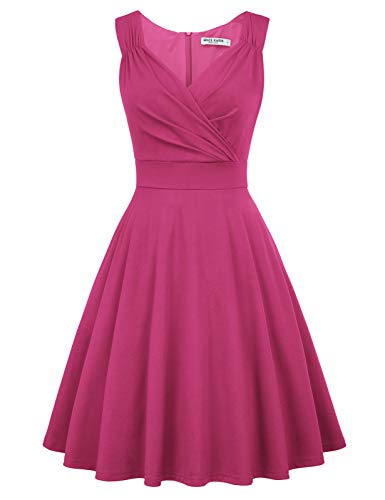 Vintage Kleider 50er Jahre Rockabilly Kleid cocktailkleid a Linie Elegante Kleider CL698-18 S