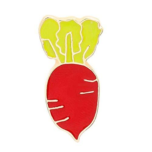 SUZHENA Brosche Strass Blume Blatt Pflanze Brosche Pins Für Frauen Elegante Kristall Kleid Broschen Frauen Kragen Pins Schmuck, Rettich