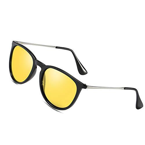 Bircen Nachtfahrbrille Polarisierte Blendschutz - Leichte Fashion Nacht HD Brille für Männer und Frauen die sicher an regnerischen Tag fahren