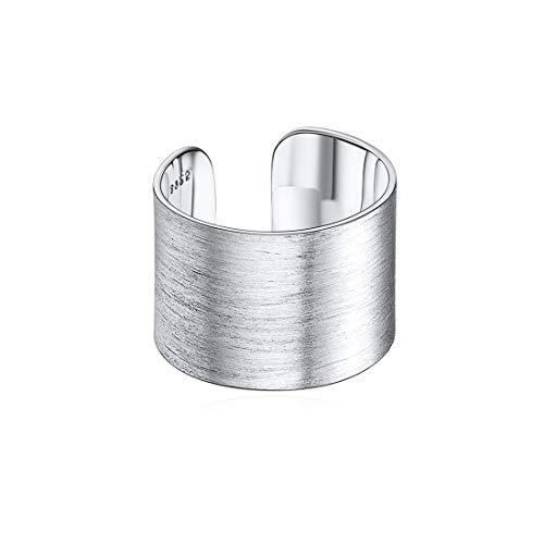 anello donna grande regolabile ChicSilver Anello Regolabile Donna Uomo in Argento Sterling S925 15mm Largo Grande