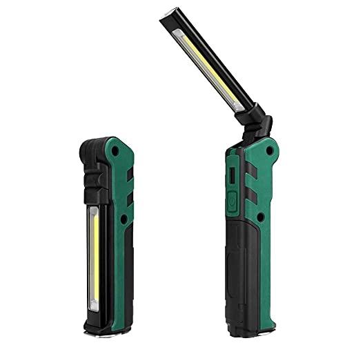 Camping Lantern USB Recargable Luz de trabajo Camping Flashlight Antorcha impermeable Batería incorporada Linterna Linternas Linternas con imán/gancho 34 mei (Color : No USB Cable)