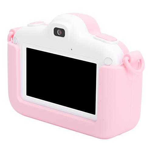 Dpofirs 1280x720 Mini Cámara Digital Infantil, Mini Cámara Digital de Fotos y Videos para Niños, 2,8 Pulgadas Pantalla Táctil a Coloe, Regalo para Cumpleaños de Niños, Juquete para Niños(Rosa)