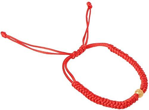XIAOGING Pulsera de protección de Ojos de Cuerda roja Hecha a Mano Lucky Gold Beads Jewelry Pulsera de Moda