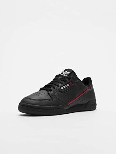 Adidas Continental 80, Zapatillas de Gimnasia Hombre, Negro (Core Black/Scarlet/Collegiate Navy), 44 2/3 EU