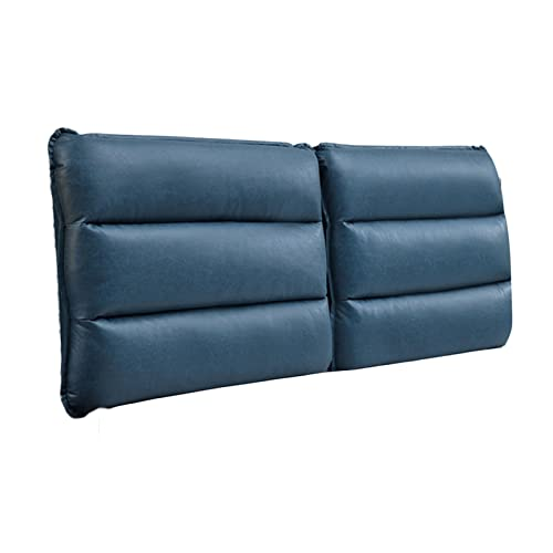 Headboard Cushion, Backrest Positioning Support Reading Pillow, Microfiber Fabric Large Back Support Pillow Removable for Home Bedroom, Custom Size PENGFEI (Color : Blue, Size : 190cmx60cmx10cm)