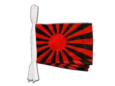Digni Grande Guirlande 12 drapeaux supporteur rouge noir - 30 x 45 cm/8,9 sticker gratuit