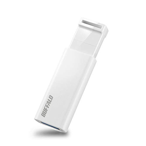 BUFFALO RUF3-KS32GA-WH/N USB Memory, 32 GB, Knock-Slide Type, USB 3.2 (Gen1) / 3.1 (Gen 1) / 3.0 / 2.0