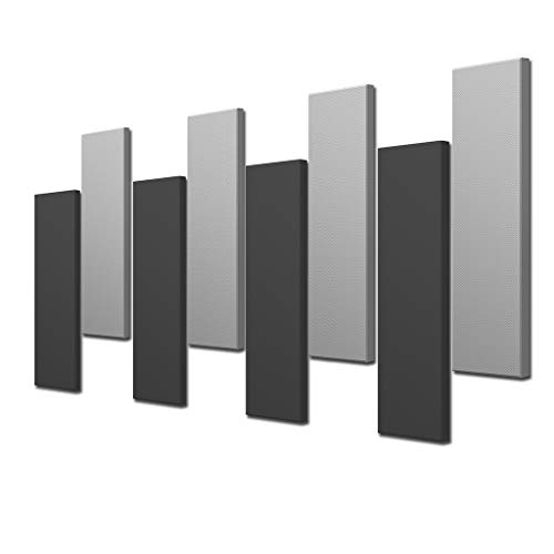 Acoustimac DMD Stagger Acoustic Panel Design Pack: 8 Pcs 8)4'x1'x2' 4-gray & 4-charcoal