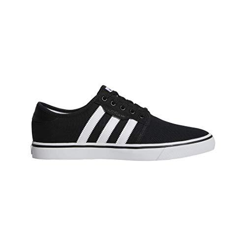 adidas Originals Seeley Shoes, Zapatillas Bajas Hombre, Goma Blanca y Negra, 36 EU