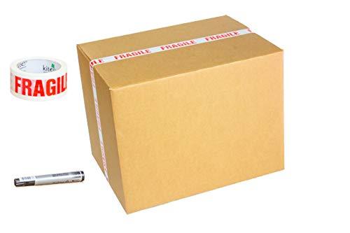 5 cajas de cartón resistentes extra grandes (XXL) para almacenamiento, embalaje o...