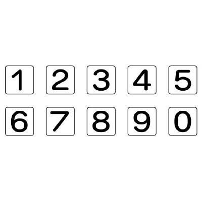 AS-24-20S 配管ステッカー 数字1〜0(小)