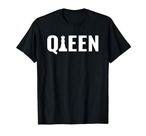 チェスのピースの女王、面白いチェス Tシャツ
