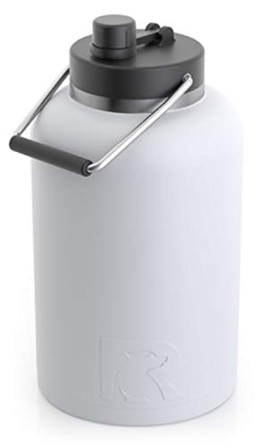 RTIC One Gallon Vacuum Insulated Jug, White Matte