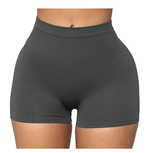 N\P Verano de las mujeres casuales de cintura apretada pantalones cortos de las señoras casuales cómodos