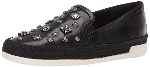 Donald J Pliner Women's PAMELASP01 Loafer Flat Black 7.5 B US