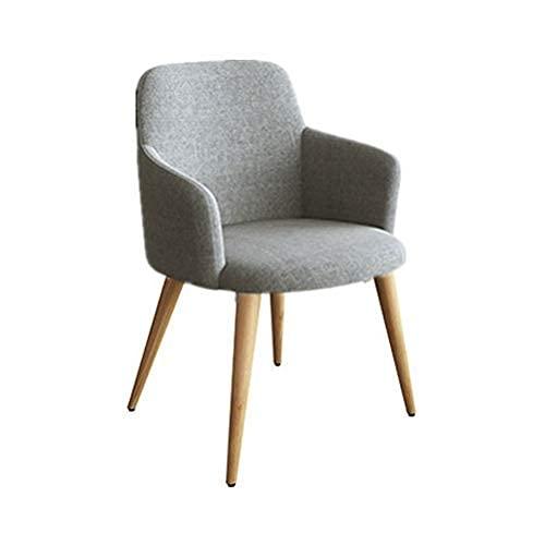 Krzesła do jadalni Kuchnia Krzesła do jadalni, biuro sprzedaży Negocjuj do użytku domowego Balkon Cafe Hot Pot Restauracja Tkanina Lounge Chair Kuchnia (kolor: szary)