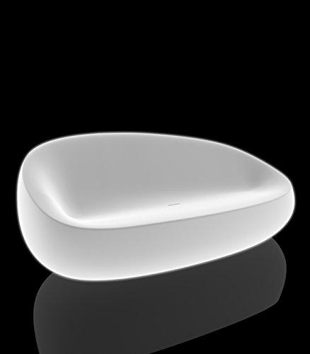Vondom Stefano Stone sofá 200x 83x 78interior iluminado con luz blanca (solo luz blanca)