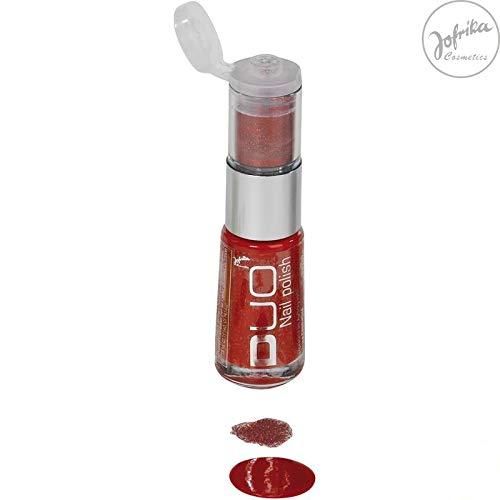 Nagellack - 8 ml - mit Glitter - rot