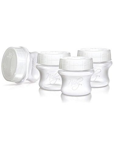 NUBY 4 Pots de conservation du lait maternel