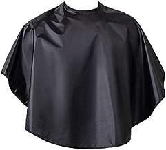 Beaupretty Hair Dye Cape Short Hair Cutting Cape Hairdressing Salon Apron Hair Cloth for Barbershop Home Salom (Black)