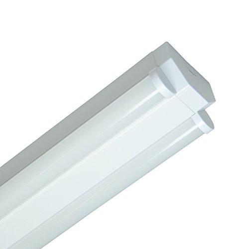 Müller-Licht LED Werkstattleuchte Basic 150 cm - 2-flammig für Wand- und Deckenmontage - koppelbar - 70 W - 4000 K - 6100 lm - Aluminium - weiß