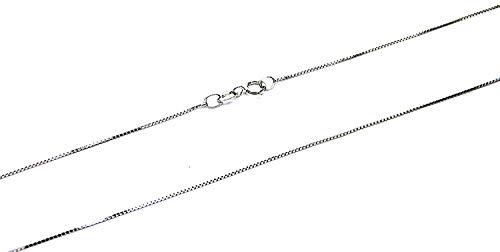 Collana Oro Bianco 18kt (750) Catenina Veneta Singola Cm 45 Donna Ragazza