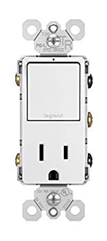Legrand radiant 15 Amp Combination Switches Rocker Wall Light Switch White Combination 3-Way Switch + Outlet RCD38TRWCC6