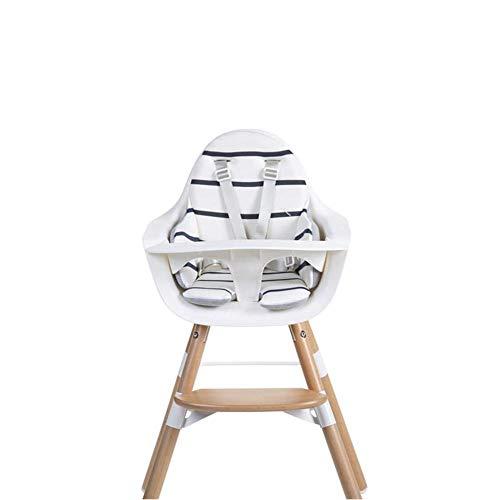 Childhome CHEVOSCMA Coussin pour chaise haute Evolution Unisexe Blanc/bleu marine