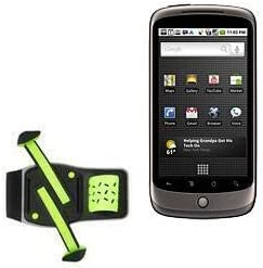 Holster for Nexus One (Holster by BoxWave) - FlexSport Armband, Adjustable Armband for Workout and Running for Nexus One, Google Nexus One - Stark Green