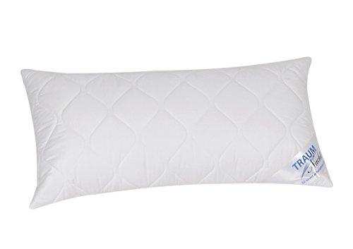 Traumnacht 3-Star Kopfkissen, Einzelpack, weich und bequem aus softer Microfaser, 40 x 80 cm, Waschbar, weiß