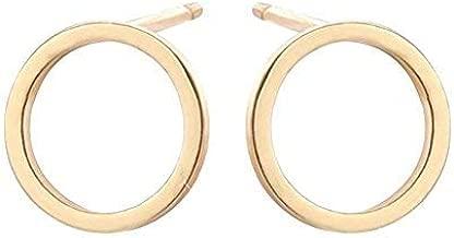 CHUYUN Pretty Bijoux Tiny Round Stud Earrings Simple Geometric Circle Earrings for Women Girls