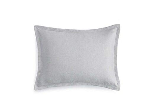Check Out This Barbara Barry Modernist European Pillow Sham in Silver