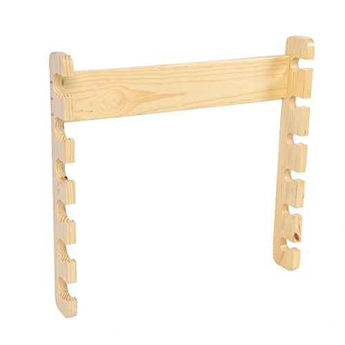 Rutenhalter, Holz Angelrute Pole Rollenhalter Halterung Ruten Rack Organizer Träger Wand Zubehör(Holzfarbe)