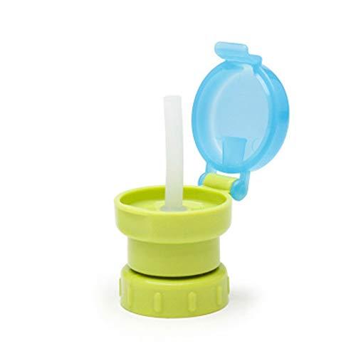 CVBN Tazas para niños Botellas para niños Tapa para Taza de Beber de Paja con Reutilizable a Prueba de Fugas, Verde