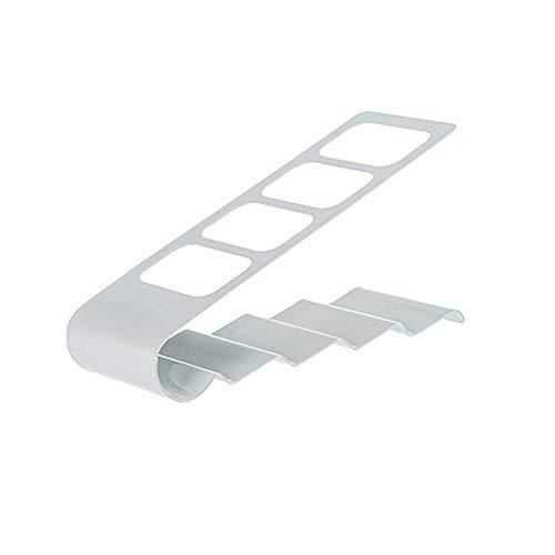 Sulifor Aufbewahrungsbox aus Schmiedeeisen mit Vier Gittern, TV/DVD/VCR-Aufbewahrungsbox mit 4 Rahmen, Fernbedienung, Aufbewahrungsbox für Handyhalterung