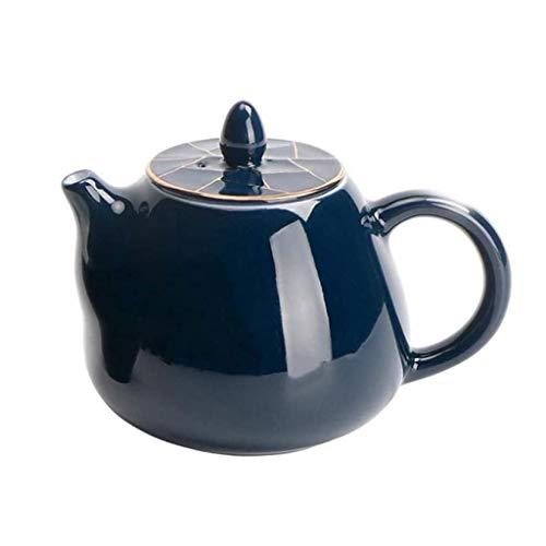JJZXT Tetera de cerámica - hogar Juego de té, Filtro Hecho a Mano Tetera, Tetera Azul, Aspecto Hermoso