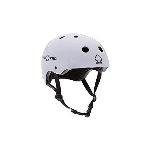 ProTec Fahrradhelm Classic Helm, Gloss White, 60-62 cm