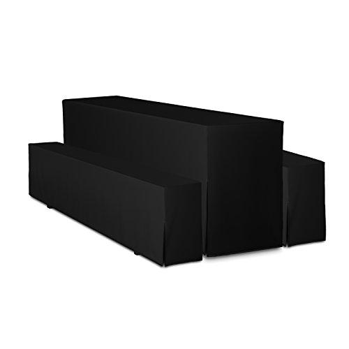 Beautissu Premium de 3piezas (Color y mesa ancho a elegir), 100% poliéster, negro, 50 cm